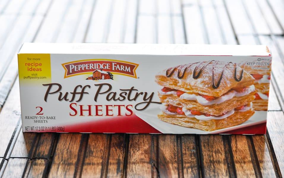 Box of puff pastry sheets