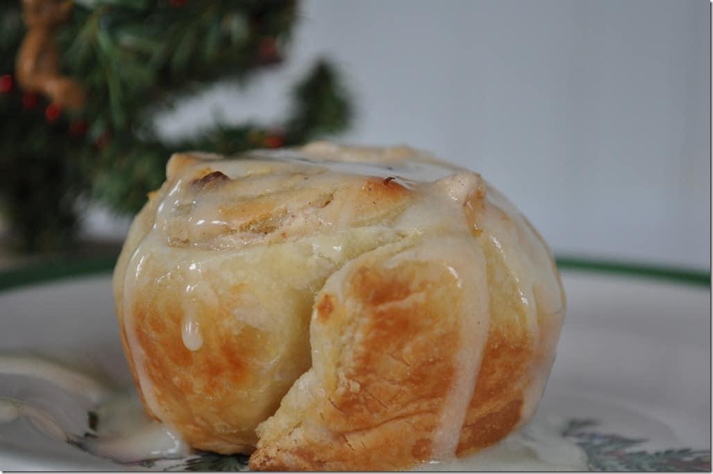 Close up eggnog bun