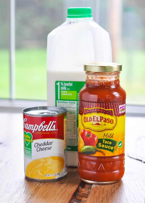 Ingredients for easy enchilada sauce