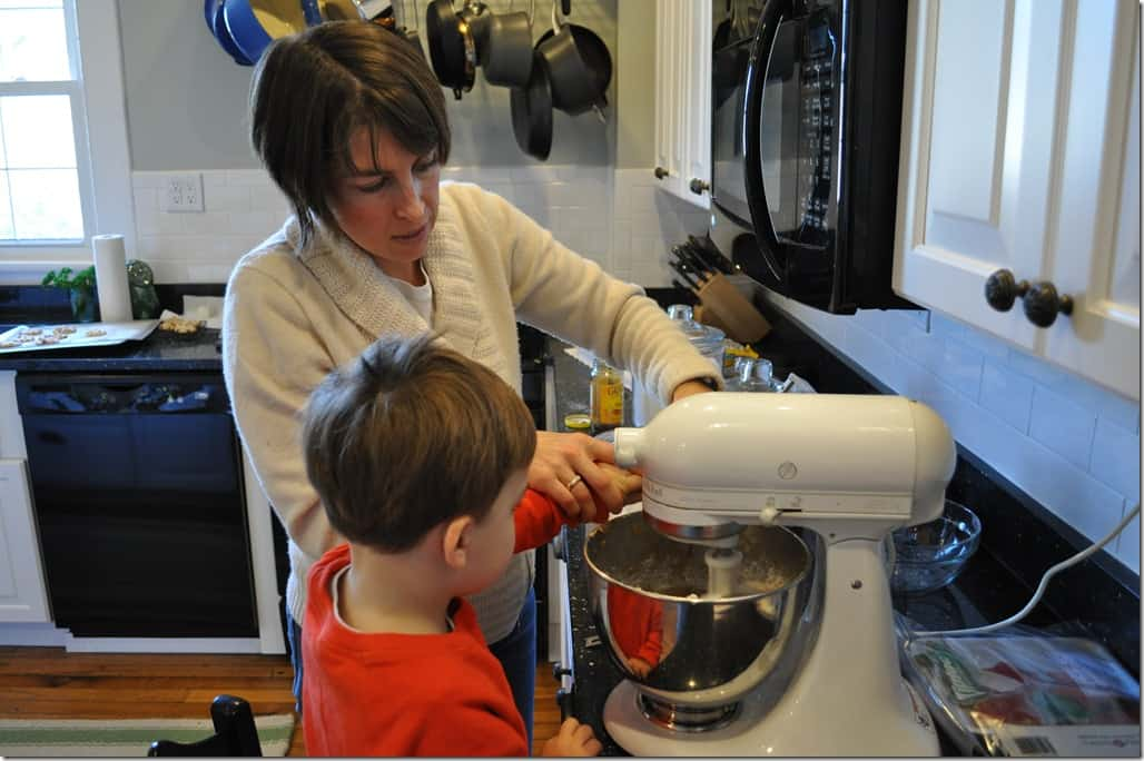 Gibbs and Mommy Baking 2