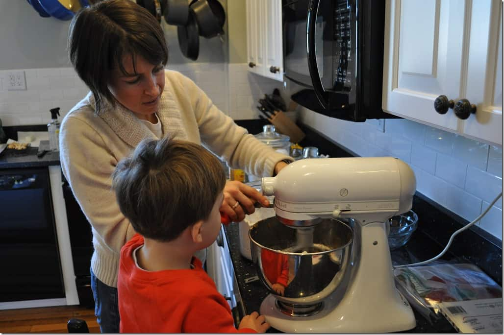 Gibbs and Mommy Baking