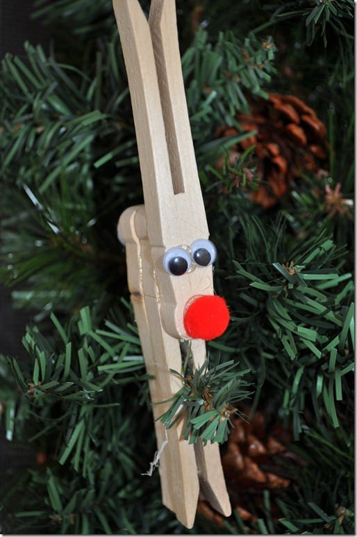 Clothespin Reindeer Craft For Kids