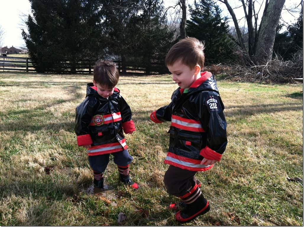 Boys in Puddle
