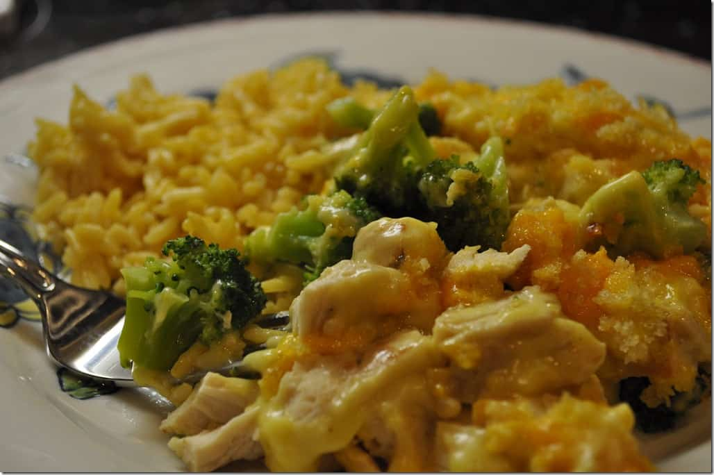 recipe: chicken broccoli cheese rice casserole velveeta [24]