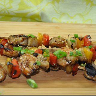 Honey Sesame Shrimp Kabobs