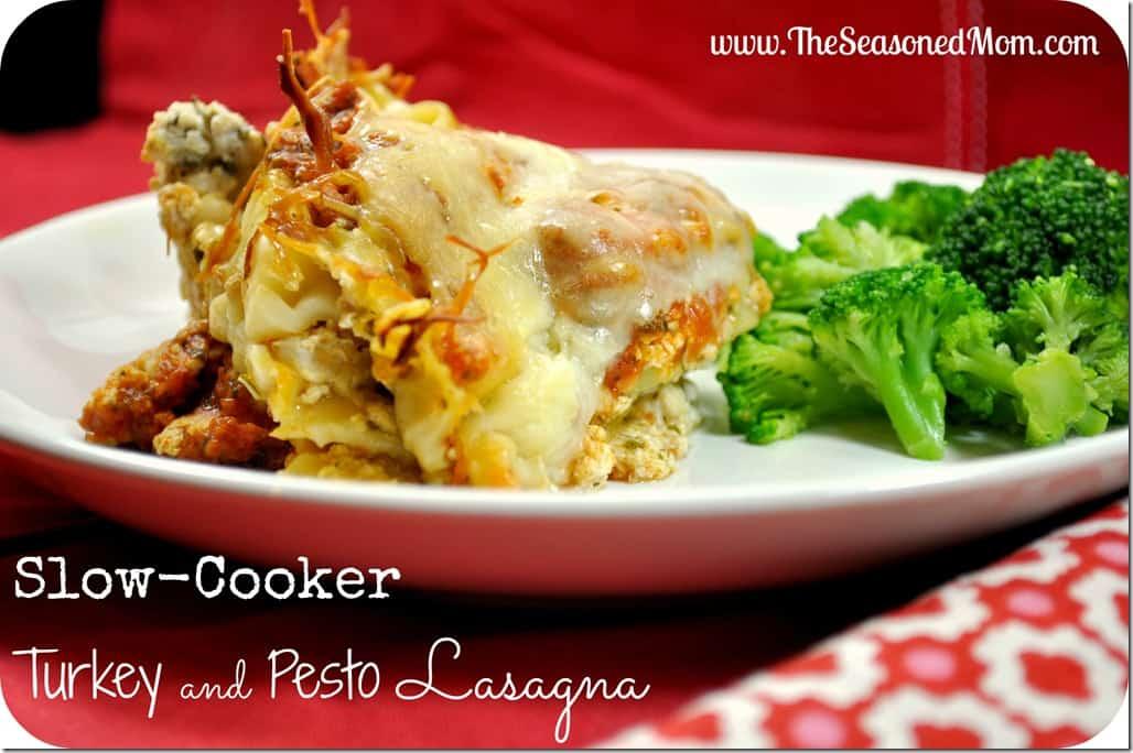 Slow Cooker Turkey and Pesto Lasagna Recipe