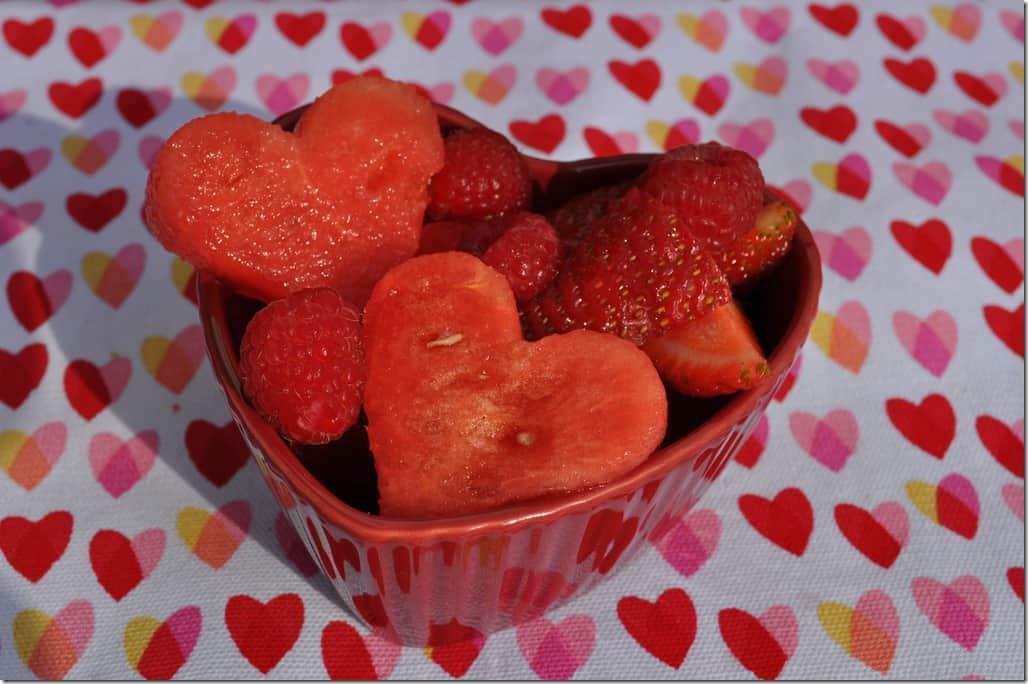 Valentine Fruit Salad