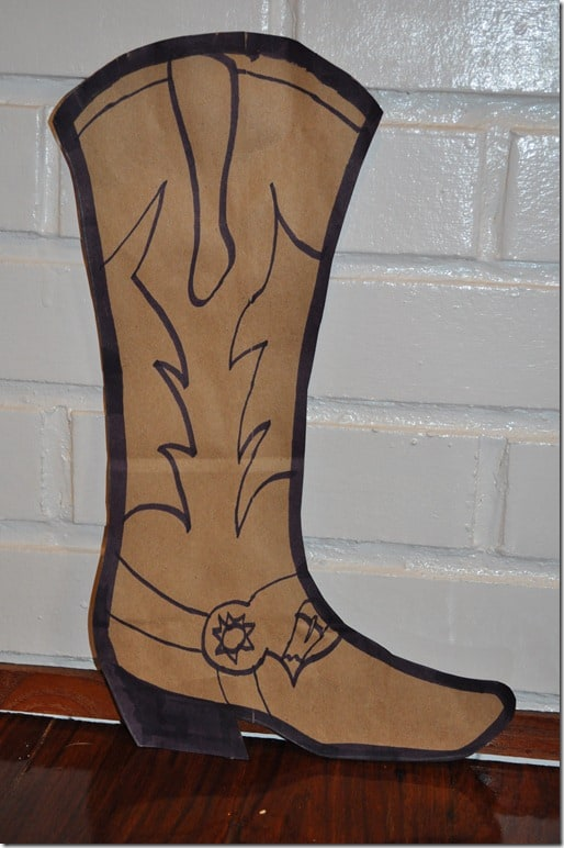 cowboy boot craft blank