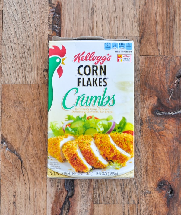 Box of Kellogg's Corn Flakes Crumbs