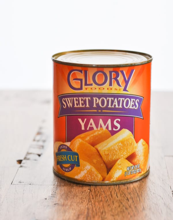 Canned sweet potatoes for sweet potato casserole