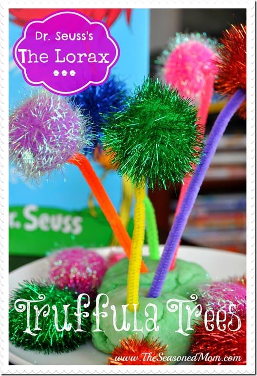 Dr. Seuss Lorax Truffula Tree Craft