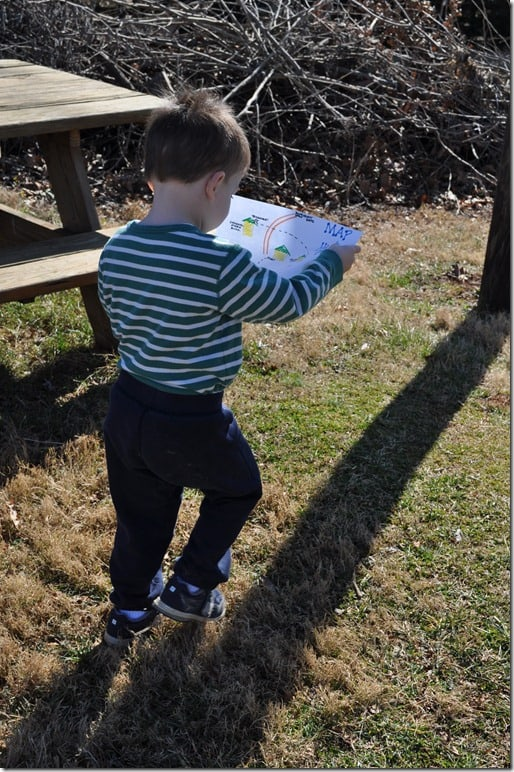 G walking with Map