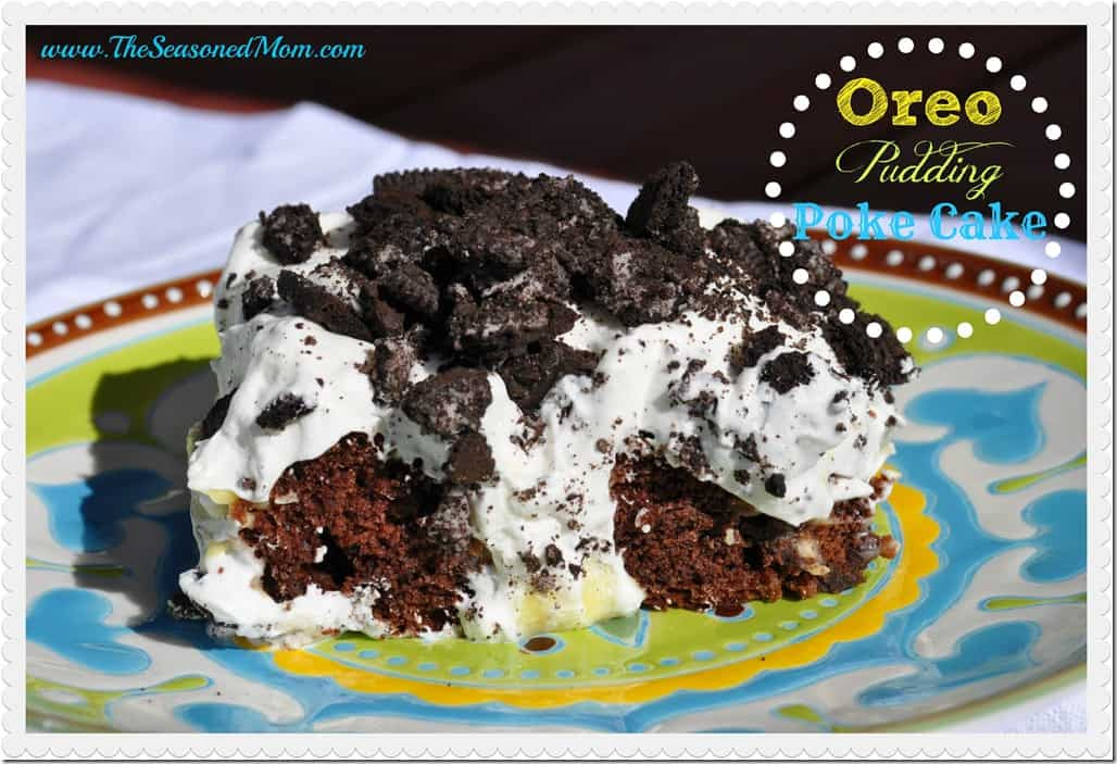 Oreo Poke Cake With Vanilla Pudding