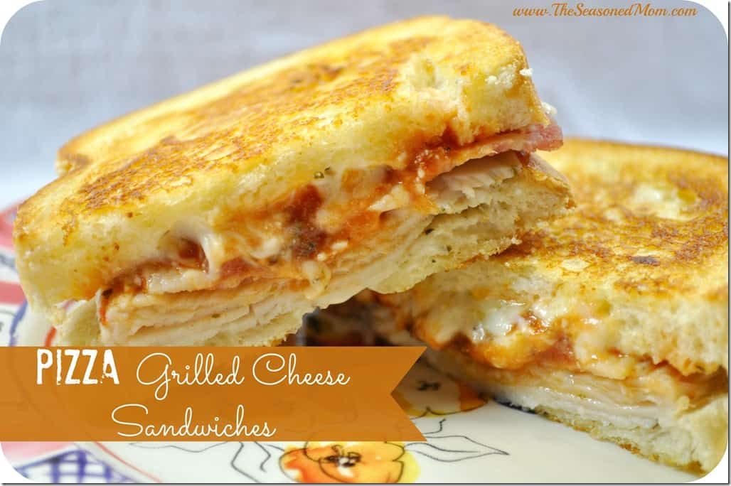 Pizza Grilled Cheese Sandwiches - The Seasoned Mom