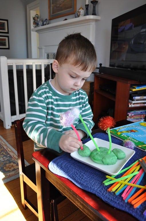 What We're Doing: Making The Lorax's Truffula Trees - The Seasoned Mom