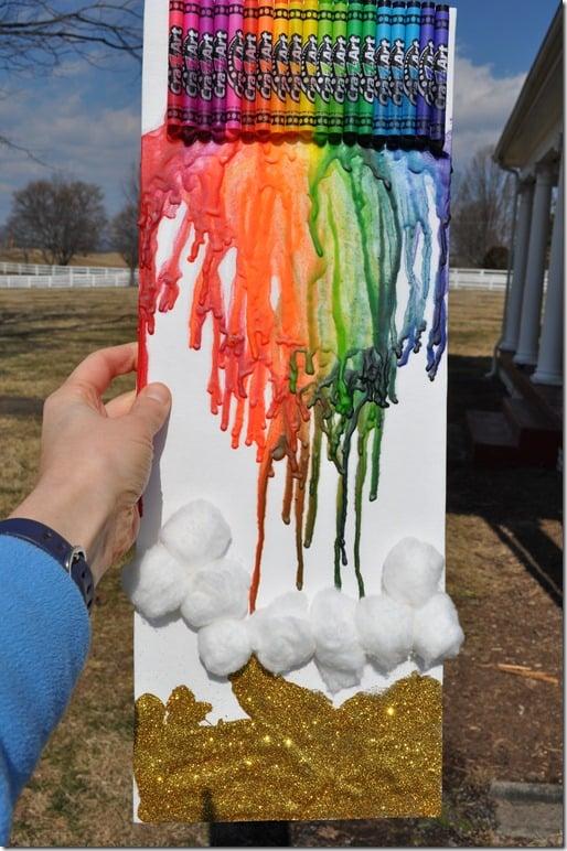 melting crayon rainbow 2