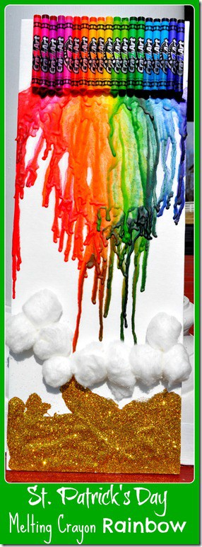 melting crayon rainbow
