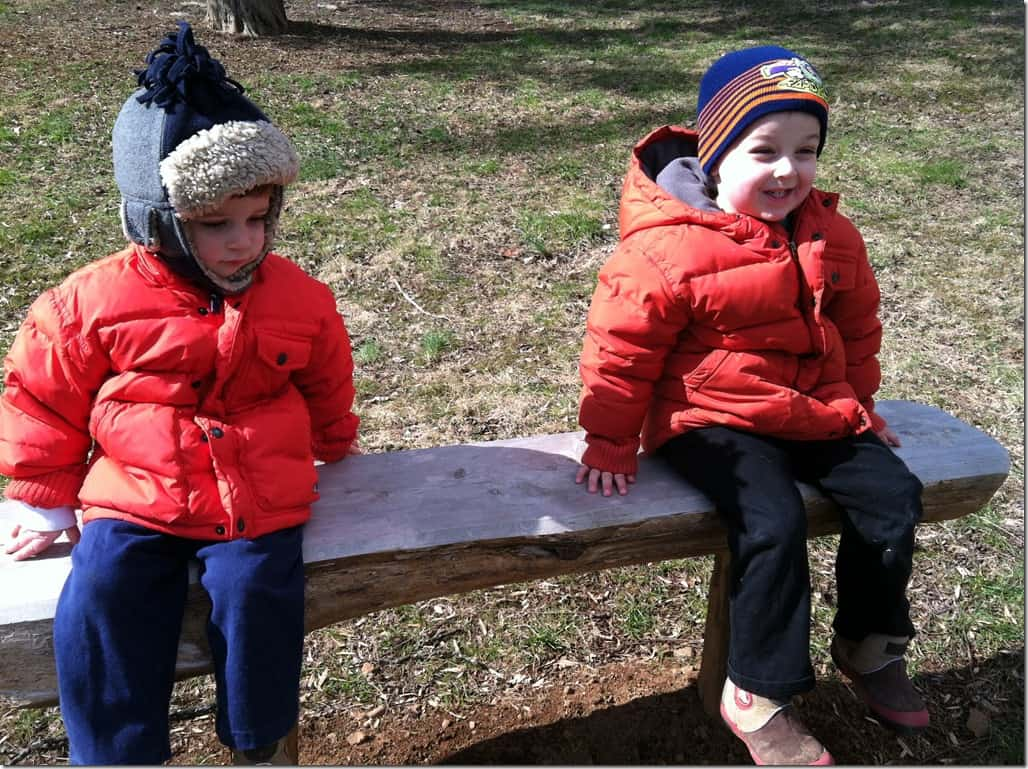 Boys on Bench at Montpelier