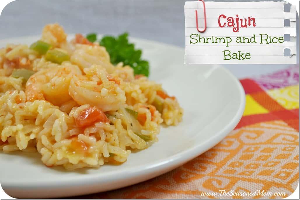 Cajun Shrimp and Rice Bake