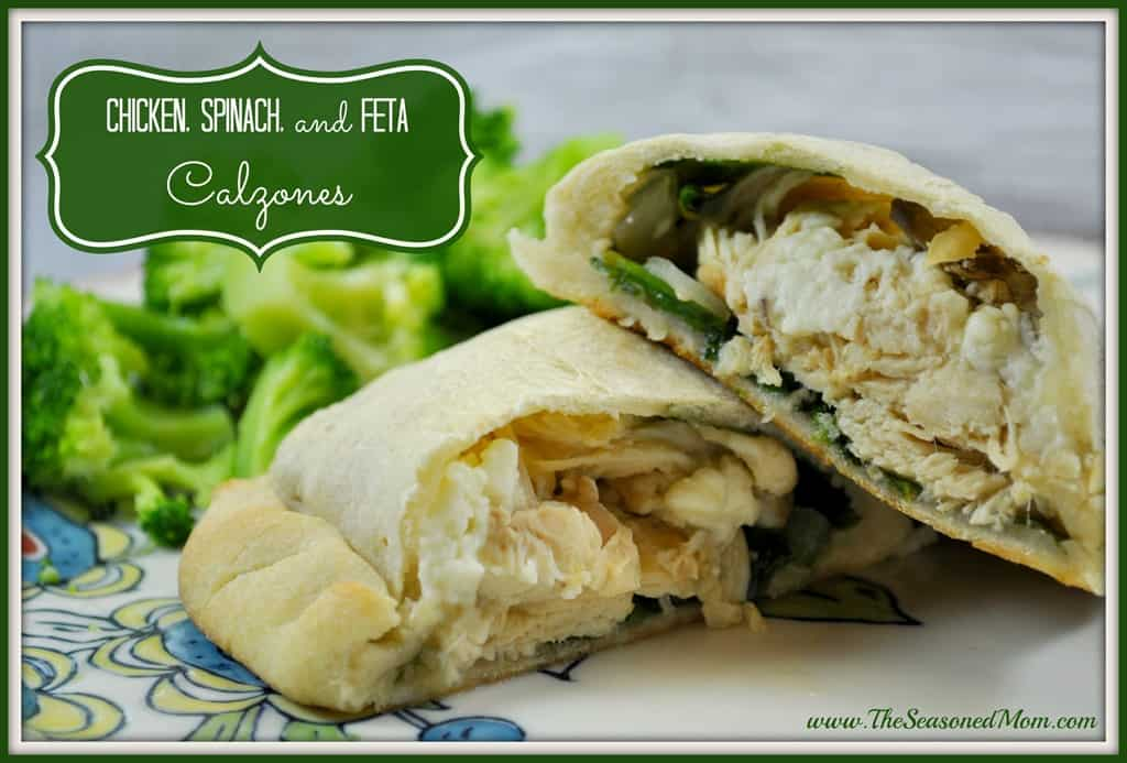 ... feta cheese, these Chicken, Spinach, and Feta Calzones are just the
