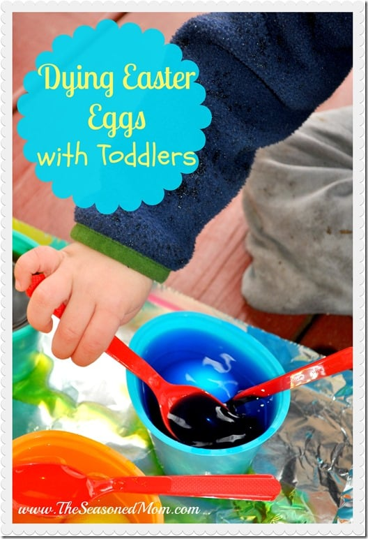 Dying Easter Eggs with Toddlers