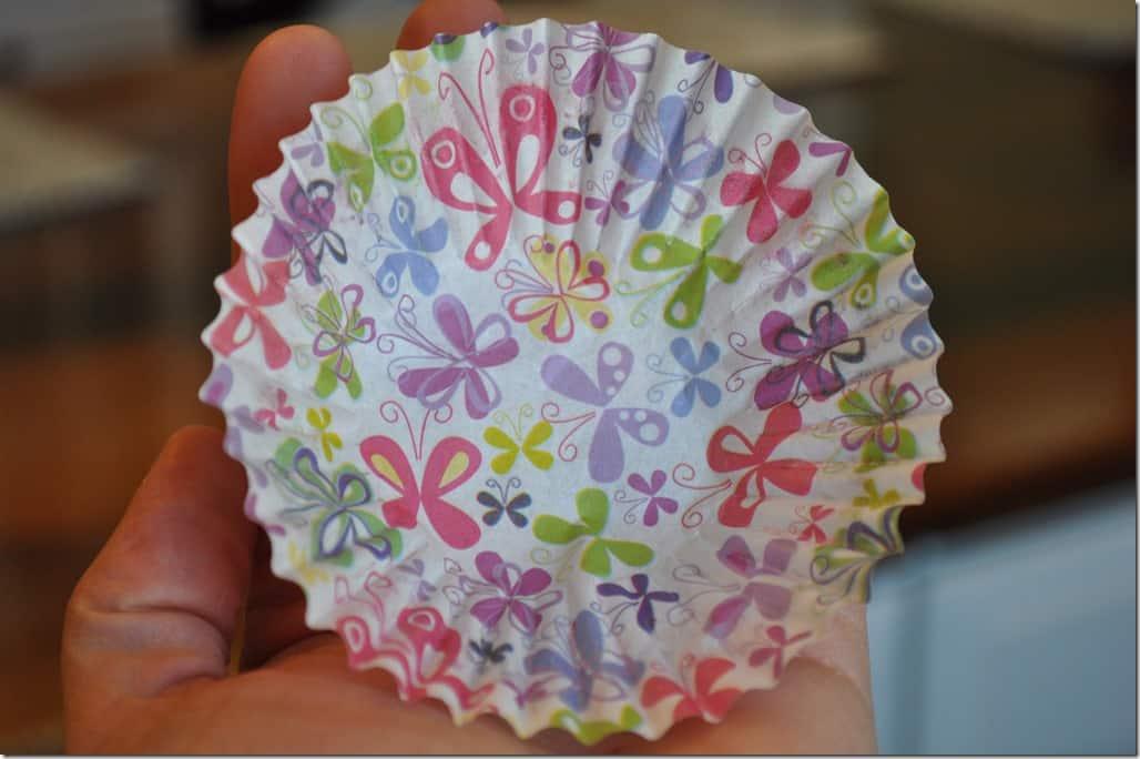 Flat muffin cup