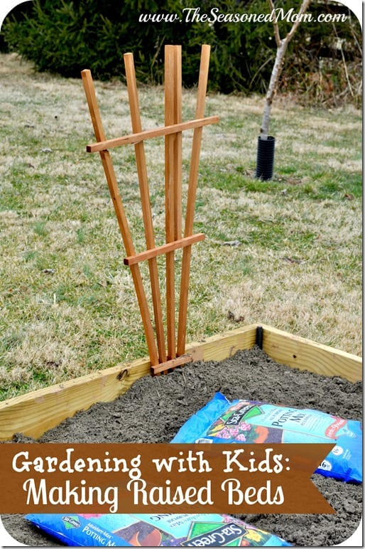 Gardening with Kids Making Raised Beds