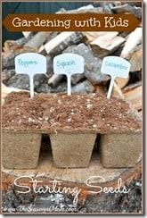 Gardening with Kids Starting Seeds
