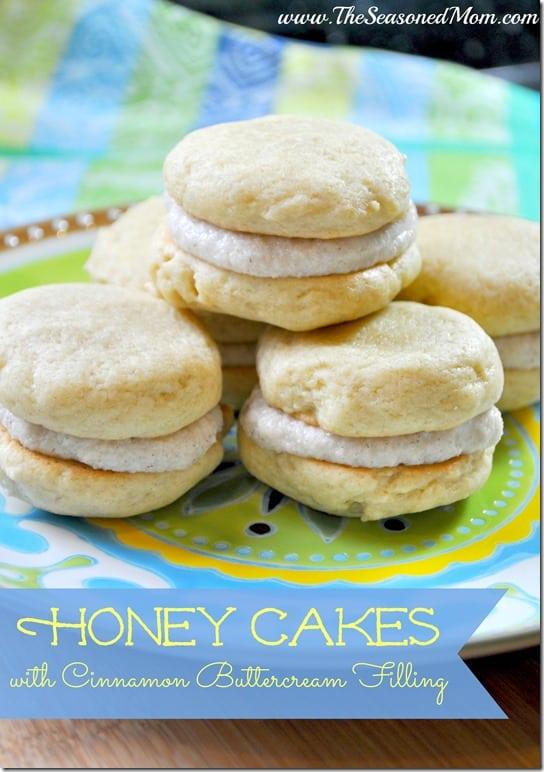 Honey Cakes with Cinnamon Buttercream Filling