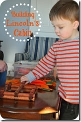 Lincoln Cabin Presidents Day Preschool Activity