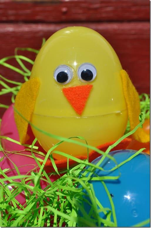 Plastic Easter Egg Chick 2