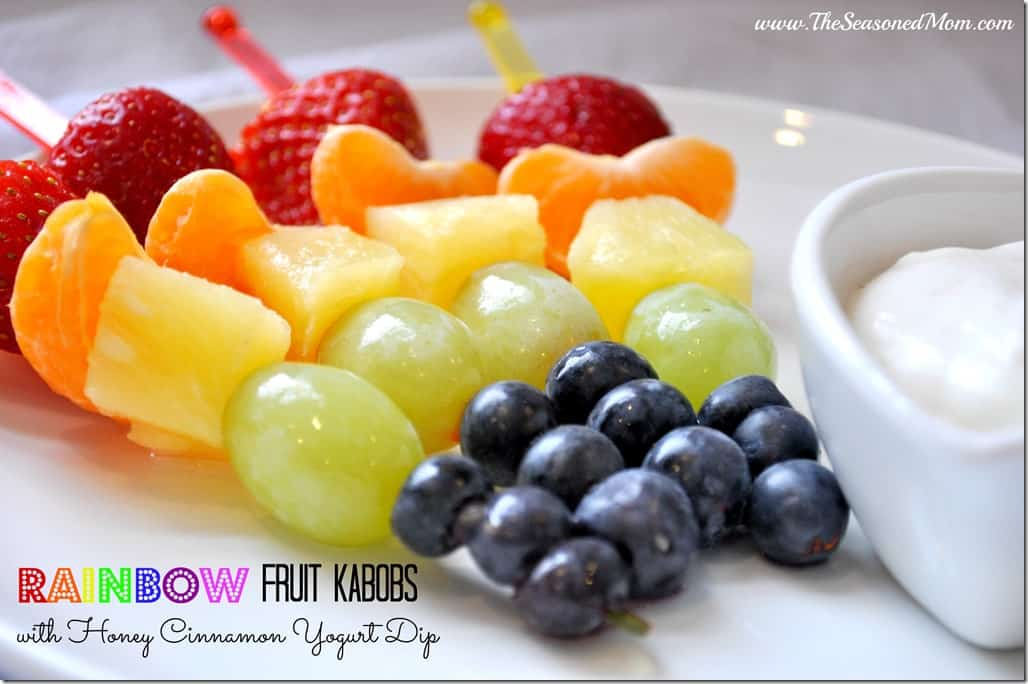 Rainbow Fruit Kabobs for Pinterest