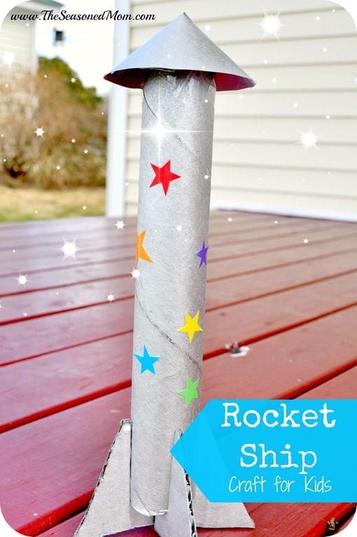 Rocket Ship Snack Craft For Kids