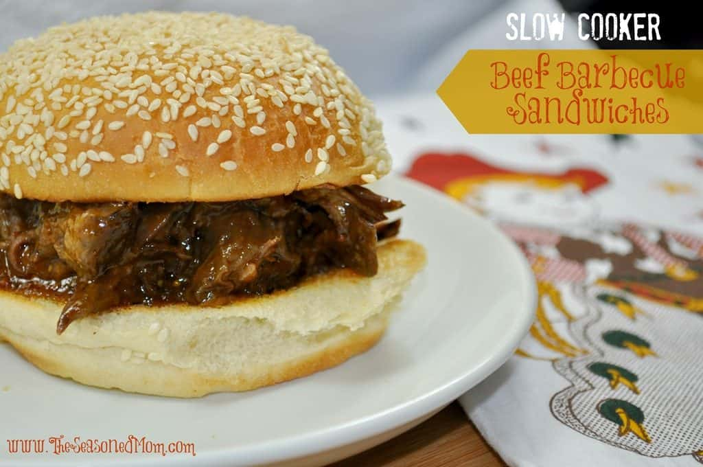 Slow Cooker Beef Barbecue Sandwiches