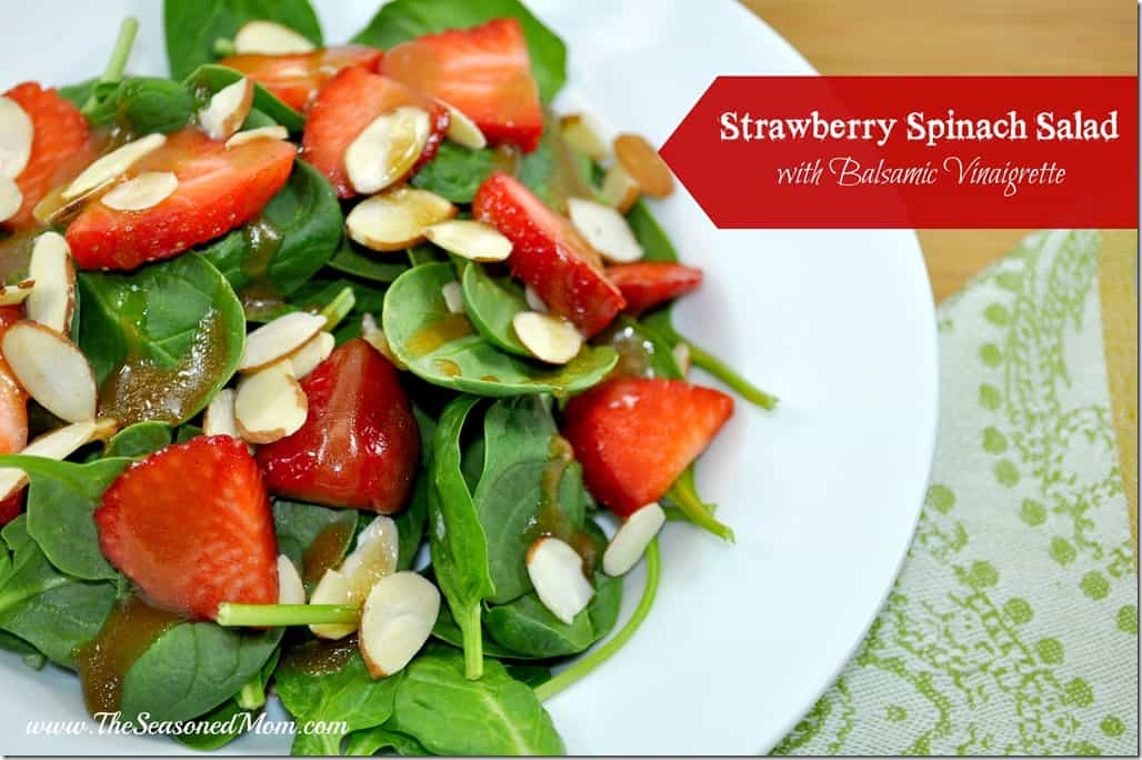 This Strawberry Spinach Salad with Balsamic Vinaigrette is a great way ...