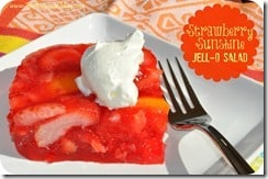 Strawberry Sunshine Jello Salad