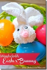 Washcloth Easter Bunny