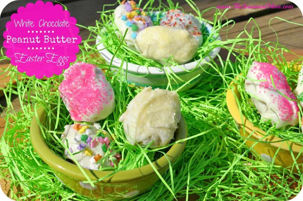 White Chocolate Peanut Butter Easter Eggs - The Seasoned Mom