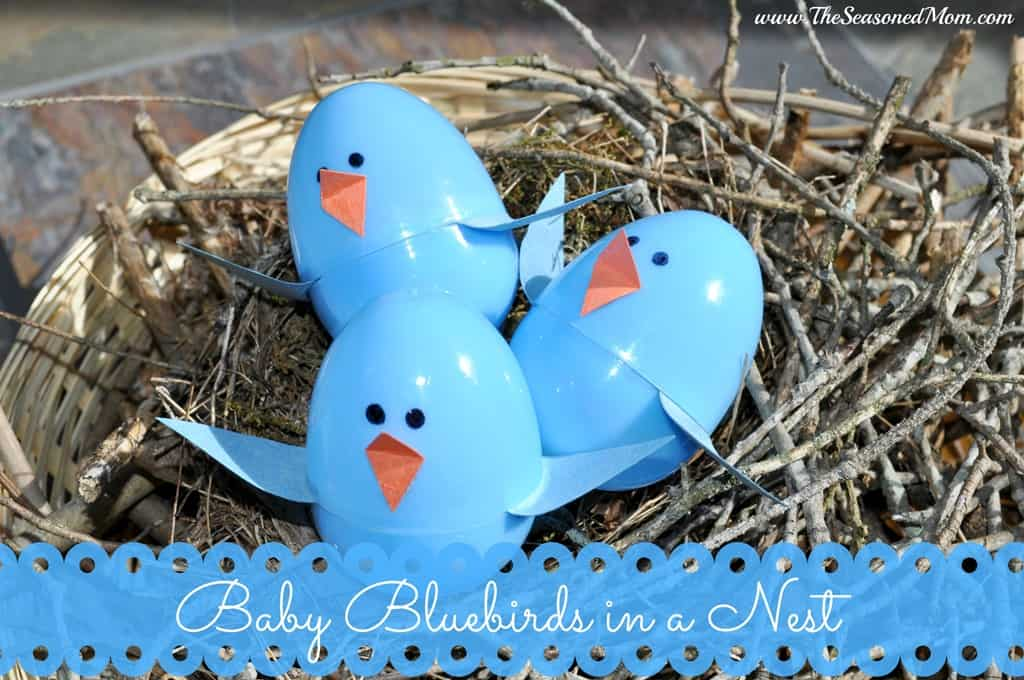 Spring baking and reading with kids honey cakes with for Baby bird nest craft