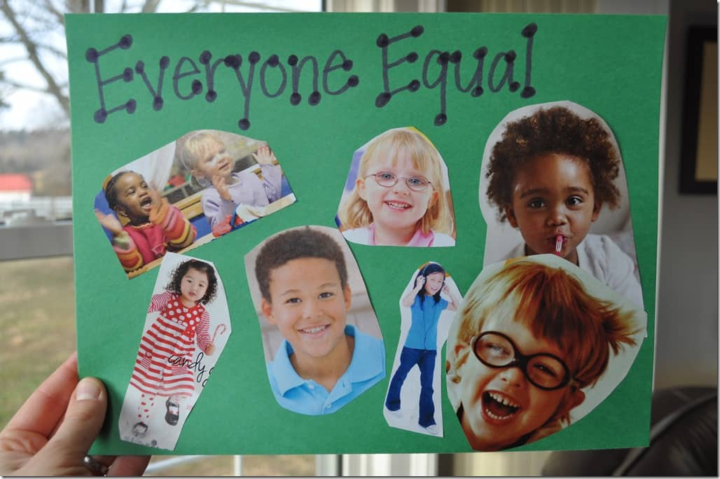 Everyone Equal collage