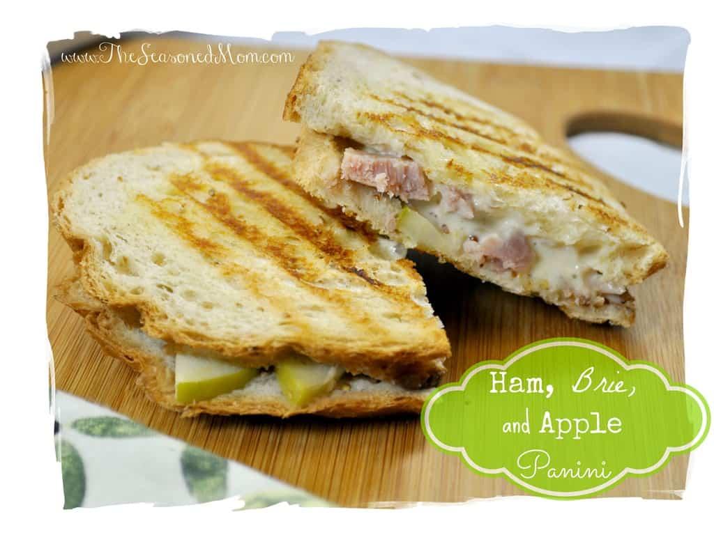 Ham Brie And Apple Panini