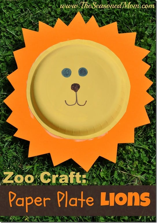 Paper Plate Lion finished & Zoo Animal Craft: Paper Plate Lions - The Seasoned Mom