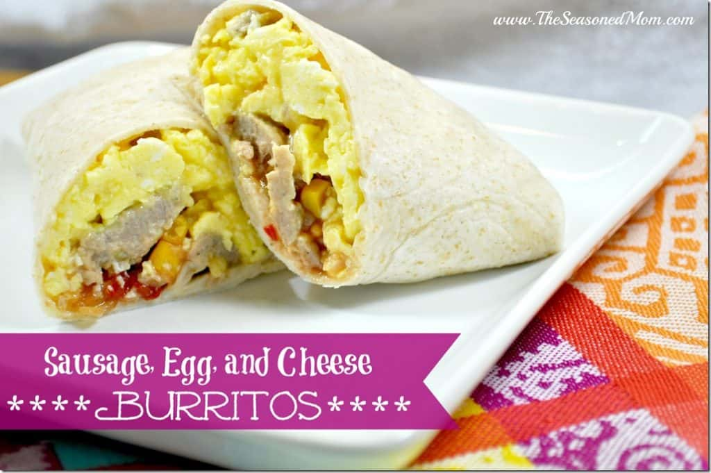 Sausage, Egg, and Cheese Burritos