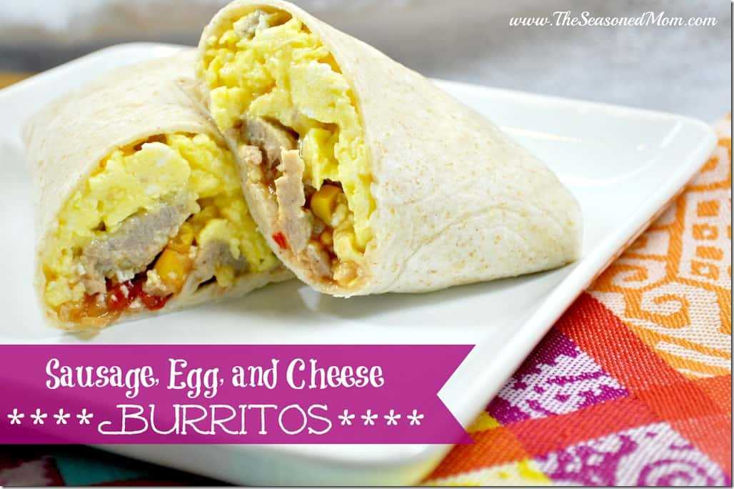 Sausage Egg and Cheese Burritos