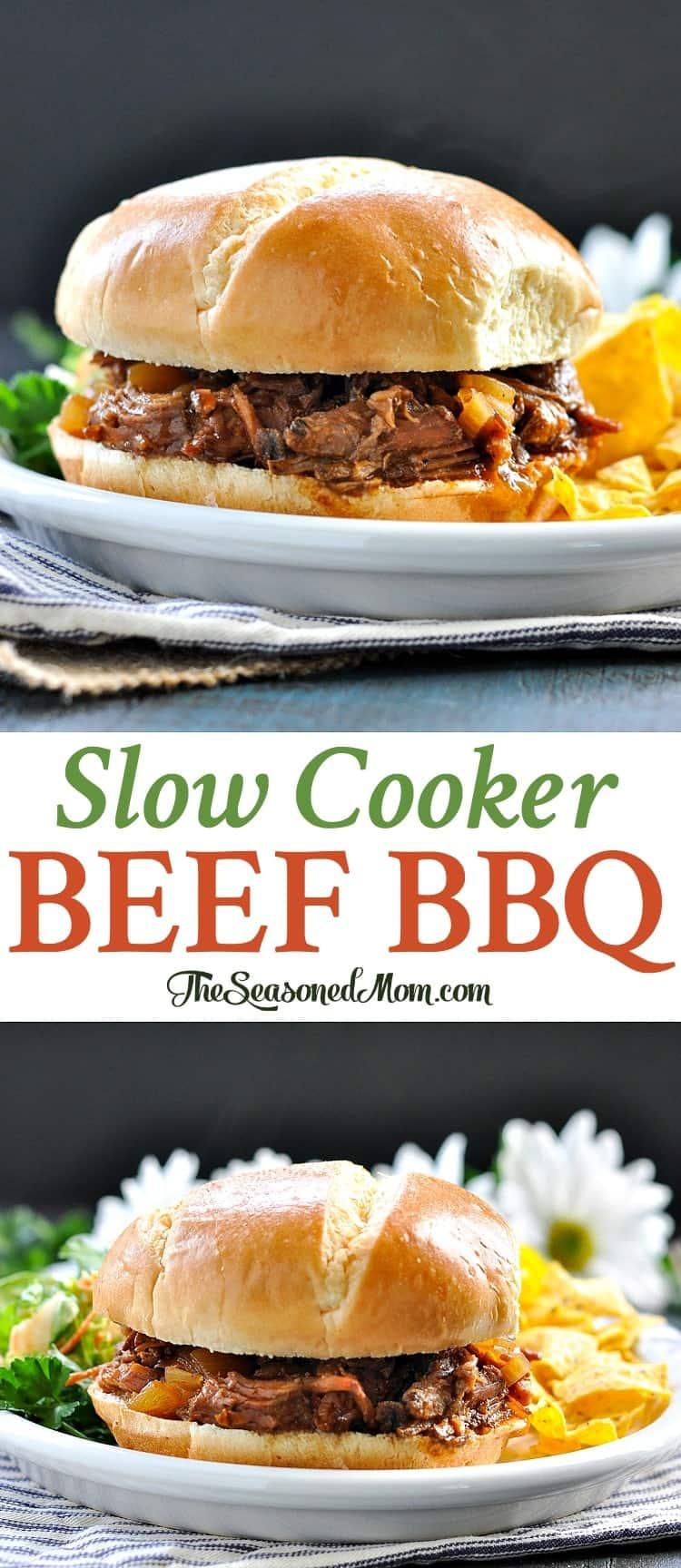 Slow Cooker Beef Barbecue | Crock Pot Recipes | Slow Cooker Recipes | Beef Recipes | Slow Cooker Meals | Easy Dinner Recipes | Dinner Ideas | Pot Roast Crock Pot Recipes