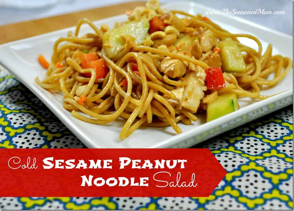 Cold Sesame Peanut Noodle Salad with Chicken
