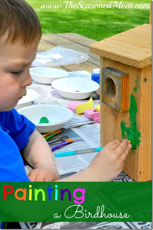 Painting a Birdhouse