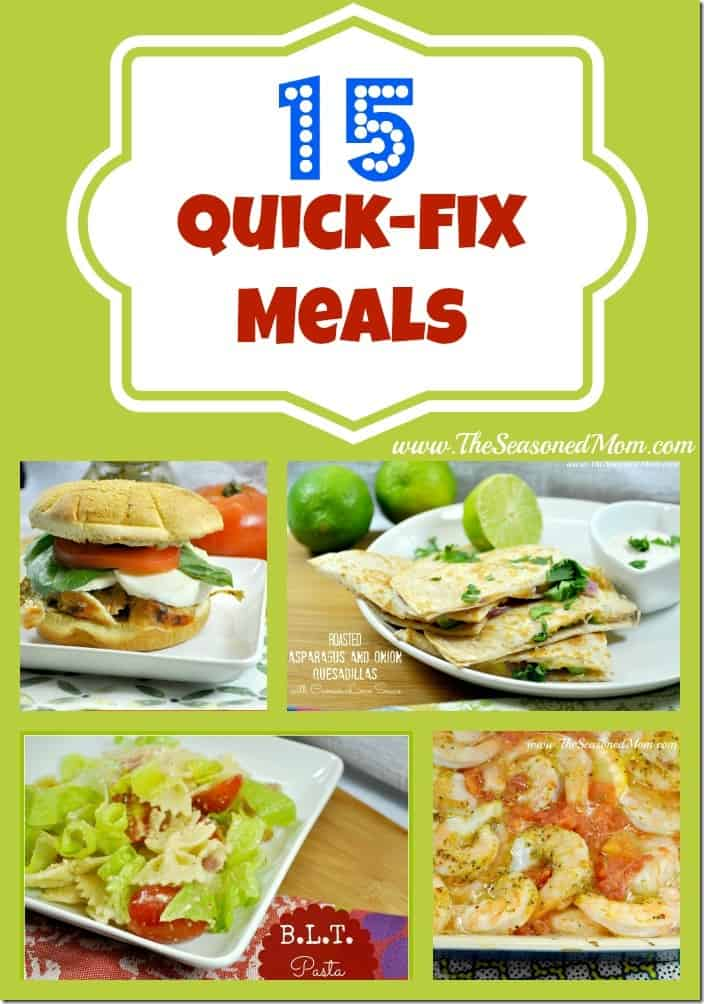 15 quick fix meals all ready in less than 30 minutes the 15 quick fix meals forumfinder Images
