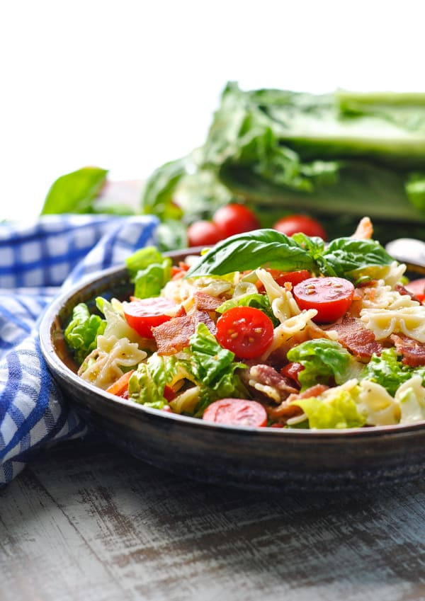 You can't beat the combination of bacon lettuce and tomato in this BLT Pasta Salad