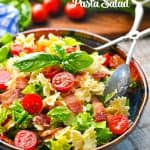 A light and fresh dinner or side dish recipe comes together easily in this BLT Pasta Salad recipe